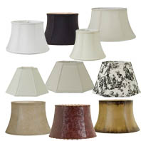 Lampcrafters plus lamp shades a large variety of shapes sizes and colors are available mozeypictures Gallery